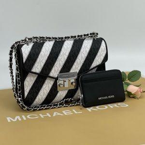 Michael Kors Rose Flap Shoulder Bag & Case…